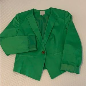 Halogen xsmall, fitted green blazer.
